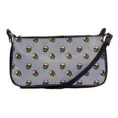 Skull Grey Pattern Shoulder Clutch Bag