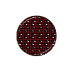 Eyes Red Plaid Hat Clip Ball Marker (10 Pack) by snowwhitegirl
