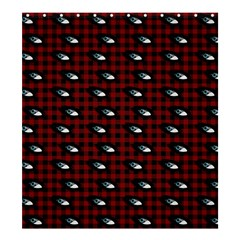 Eyes Red Plaid Shower Curtain 66  X 72  (large)