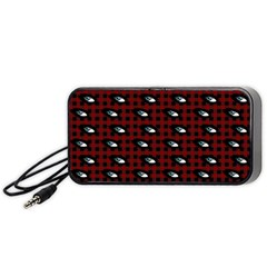 Eyes Red Plaid Portable Speaker