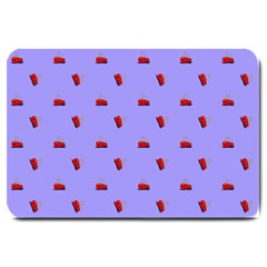 Candy Apple Lilac Pattern Large Doormat
