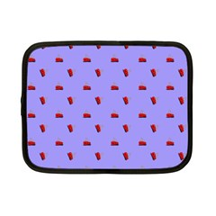 Candy Apple Lilac Pattern Netbook Case (small) by snowwhitegirl