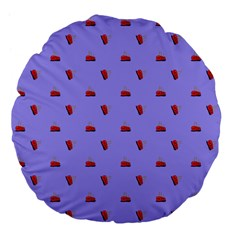Candy Apple Lilac Pattern Large 18  Premium Flano Round Cushions