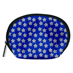 Silver Stars Royal Blue Accessory Pouch (medium)