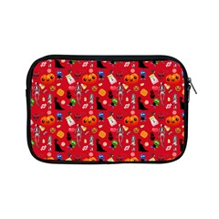 Halloween Treats Pattern Red Apple Ipad Mini Zipper Cases by snowwhitegirl