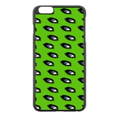 Eyes Green Apple Iphone 6 Plus/6s Plus Black Enamel Case by snowwhitegirl