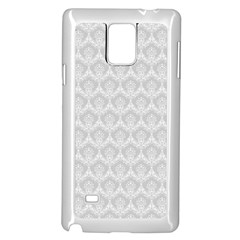 Damask Grey Samsung Galaxy Note 4 Case (white)