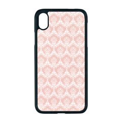 Damask Peach Apple Iphone Xr Seamless Case (black)