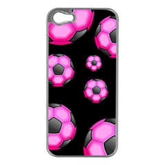 Wallpaper Ball Pattern Pink Apple Iphone 5 Case (silver) by Alisyart