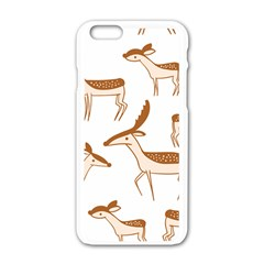 Seamless Animals Deer Pattern Apple Iphone 6/6s White Enamel Case