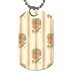 Lotus Flower Waterlily Wallpaper Dog Tag (two Sides)