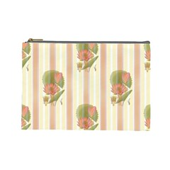 Lotus Flower Waterlily Wallpaper Cosmetic Bag (large)