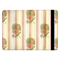 Lotus Flower Waterlily Wallpaper Samsung Galaxy Tab Pro 12 2  Flip Case by Mariart
