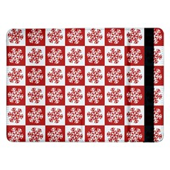 Snowflake Red White Samsung Galaxy Tab Pro 12 2  Flip Case