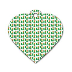 St Patricks Day Background Ireland Dog Tag Heart (two Sides)