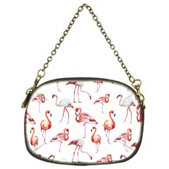 Pink Flamingos Chain Purse (one Side)