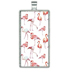 Pink Flamingos Rectangle Necklace by goljakoff