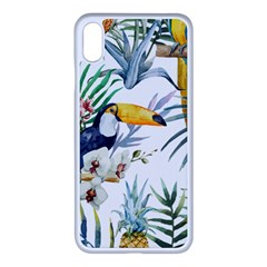 Tropical Birds Apple Iphone Xs Max Seamless Case (white) by goljakoff