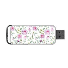 Pink Flowers Portable Usb Flash (two Sides) by goljakoff