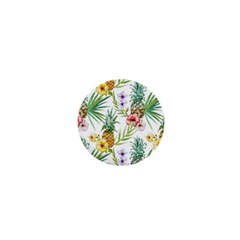 Tropical Pineapples Pattern 1  Mini Buttons by goljakoff