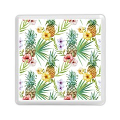 Tropical Pineapples Pattern Memory Card Reader (square) by goljakoff