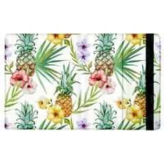 Tropical Pineapples Pattern Apple Ipad 2 Flip Case by goljakoff
