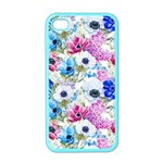 Blue and purple flowers Apple iPhone 4 Case (Color) Front
