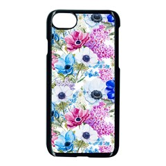 Blue And Purple Flowers Apple Iphone 7 Seamless Case (black) by goljakoff