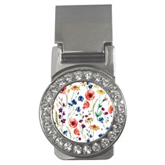 Rainbow Flowers Money Clips (cz)  by goljakoff