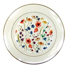 Rainbow Flowers Porcelain Plates