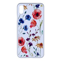 Rainbow Flowers Apple Iphone Xs Max Seamless Case (white) by goljakoff