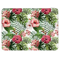 Red Monstera Flowers Samsung Galaxy Tab 7  P1000 Flip Case