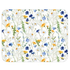 Blue And Yellow Flowers Double Sided Flano Blanket (medium)