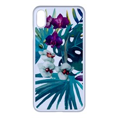 Monstera Flowers Apple Iphone Xs Max Seamless Case (white) by goljakoff