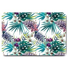 Monstera Flowers And Leaves Large Doormat