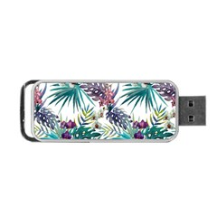 Monstera Flowers And Leaves Portable Usb Flash (two Sides) by goljakoff