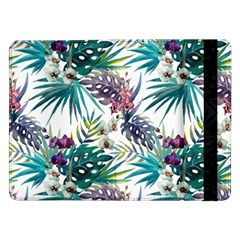 Monstera Flowers And Leaves Samsung Galaxy Tab Pro 12 2  Flip Case