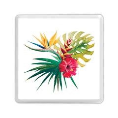 Watercolor Flowers Paint Memory Card Reader (square) by goljakoff