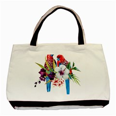 Parrots Painting Basic Tote Bag by goljakoff