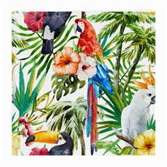 Tropical Parrots Medium Glasses Cloth