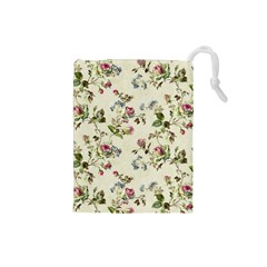 Vintage Roses Drawstring Pouch (small)