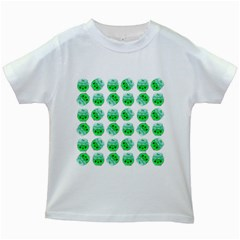 Kawaii Lime Jam Jar Pattern Kids White T Shirts