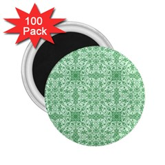 Ornamental Green 2 25  Magnets (100 Pack)