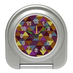 Fall Geometric Pattern Travel Alarm Clock