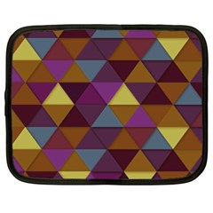 Fall Geometric Pattern Netbook Case (xxl)