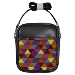 Fall Geometric Pattern Girls Sling Bag