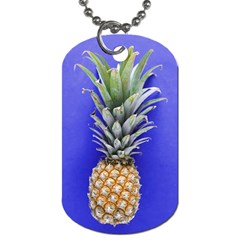 Pineapple Blue Dog Tag (one Side)