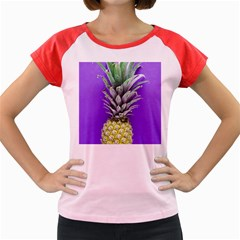 Pineapple Purple Women s Cap Sleeve T-shirt by snowwhitegirl