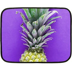 Pineapple Purple Double Sided Fleece Blanket (mini)  by snowwhitegirl