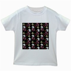 Victorian Girl Black Kids White T Shirts